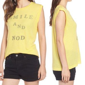 Wildfox NWT Yellow Tank Top Smile & Nod Small
